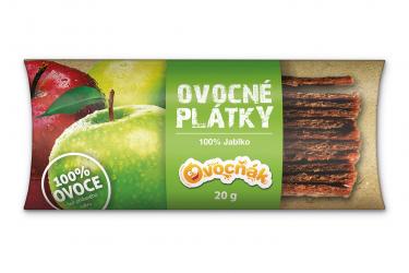 Ovocné plátky 20 g jablko 100%