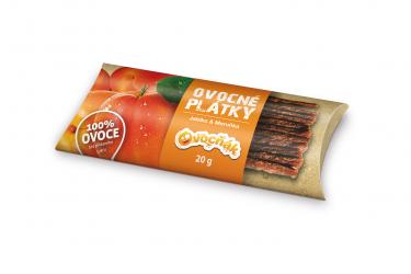 Ovocné plátky 20 g jablko/meruňka