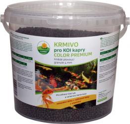 PROXIM Krmivo KOI, Color premium - Hnědé plovoucí granule 4 mm, balení 5 l