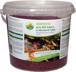 PROXIM Krmivo KOI - Červené plovoucí tyčinky 3 mm, balení 5 l