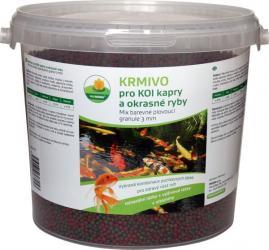 PROXIM Krmivo KOI - Mix barevné plovoucí granule 3 mm, balení 5 l