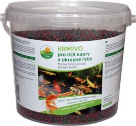 PROXIM Krmivo KOI - Mix barevné plovoucí granule 6 mm, balení 5 l